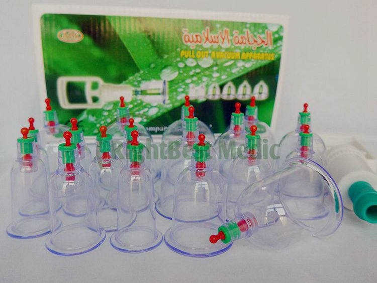 plastic vacuum cupping sets 18 cups